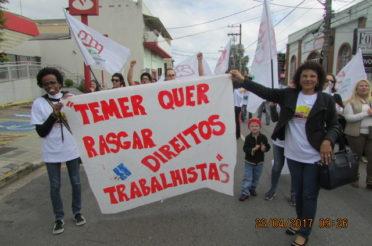 Vinhedo e o Brasil pararam em defesa dos direitos